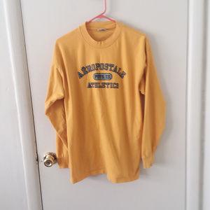 💚 Men's Yellow Aeropostale Long Sleeve Shirt
